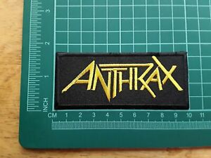 Anthrax Patch Punk Rock Heavy Metal Pop Music Sew/Iron On Badge