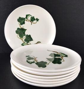 "Vintage Metlox Poppytrail California Ivy Lunch Plates 9 3/8"" Set Of 7 Made USA"
