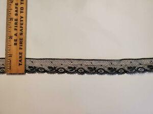Vintage/Antique Cotton Lace Black 15 Yards