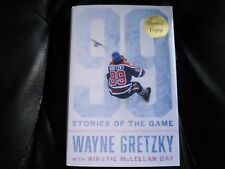 WAYNE GRETZKY SIGNED - 99 STORIES OF THE GAME - Limited First Ed. Hardcover NHL