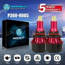 4-Sided 2x 9005/HB3 COB LED Headlight Bulbs Kit With CPU 2000W 360° High Bright
