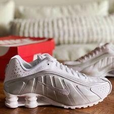 Nike Unisex Shox R4 Training Shoes White 104265-131 Lace Up M 8.5 W 10 New