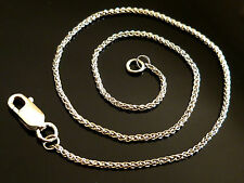 """9ct Solid White Gold Braided Rope Ladies Womens Chain Anklet - 24cm's 9.5"""" AB13"""
