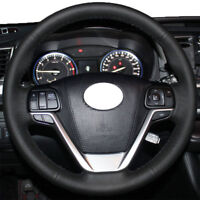 Hand Stitch Steering Wheel Wrap Cover for 2014-19 18 Toyota Highlander Sienna 16