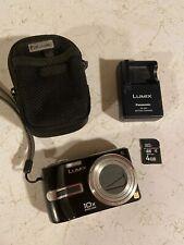 Panasonic Lumix DMC-TZ3 7.2MP 10x Zoom Black Digital Camera 4GB Card And Case