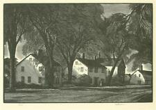 "Thomas W Nason 1939 Antique ART PRINT ""Village Street"" WPA AAA"