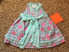 NWT Trish Scully Child Geometric Dress SZ 12M Baby Toddler Girl READ INTL SHIP