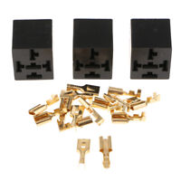 3Pcs/Pack 40A 5 Pin Car Relay Base Socket Holder Connector With 15 Terminals