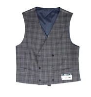 Lauren by Ralph Lauren Mens Suit Vest Gray Size Medium M Plaid Wool $125 #264