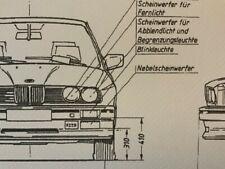 Limitierter ARTprint BMW E30 M 1986 Konstruktionszeichnung