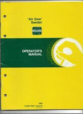 Original OE OEM John Deere Air Sow Seeder Operator's Manual CHAM 72061 Issue A2