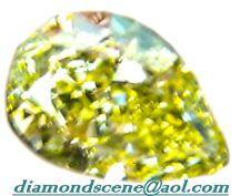 GIA certified pear shape fancy yellow diamond 100% natural loose diamond