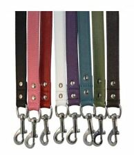 "Angel Alpine Genuine Leather Leash Padded Handle - 8 Colors - 48"" or 72"" Lead"
