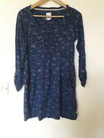 Mantaray Swan Stripe Print Tunic Top Size 10