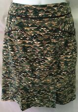 Anthropologie EDME & ESYLLTE Pencil Skirt Green Mountains Velvet Women Size 2