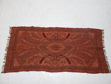 19th Century Antique Kashmir Paisley Shawl Scarf Two Sides 159x80cm (L309)