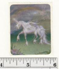 Small Vintage Acard Stickermania Unicorn and Rainbow Glossy Sticker