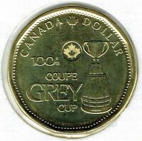 2012 Canadian Commemorative Brilliant Uncirculated Gray Cup $1 Loonie!