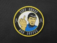 Nihilistic Spock Morale Patch Star Trek Captain Spock Hook & Loop