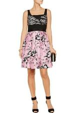 Diane von Furstenberg Pink Black Simple Toile Silk DVF Sita Dress $698 NWT 12