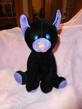 "Cat Black Purple 9"" Sitting Halloween Stuffed Plush Velvet Coast to Coast Ent."