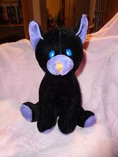 "Cat Black Purple 9"" Sitting Halloween Stuffed Plush Velvet Coast to Coast Ent."