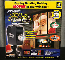 Star Shower Window Wonderland Projector 6 Halloween And 6 Christmas Movies