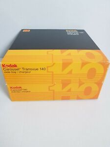 2 Kodak Genuine Carousel 140 Slide Trays with original boxes and index sheets
