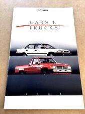 1988 Toyota Line 24-page Brochure Catalog - Land Cruiser Truck 4Runner Mr2 Supra