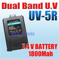 Original BaoFeng UV-5R Dual Band radio battery 1800mah 7.4V Li-ion UV5