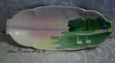 "Small Watercolor Serving Dish 11"" x 4.75"""