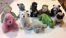☀️ LOT 10 GANZ Webkinz NC Plush Stuffed Animal Toy Cat Panda Pug Manatee Yorkie