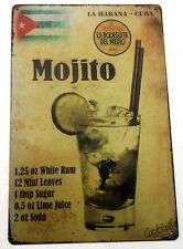 MOJITO COCKTAIL RECIPE METAL TIN SIGNS vintage cafe pub bar retro