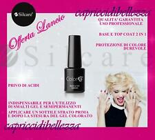 SMALTO GEL SEMIPERMANENTE BASE e TOP COAT VANISH SIGILLANTE 2 IN 1 SILCARE 8g