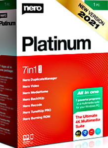 NERO PLATINUM SUITE 2021 software masterizzazione cd dvd audio PC WINDOWS