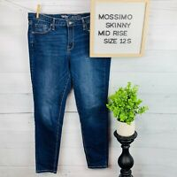 Mossimo Denim Womens Jeans Size 12S | 31 Short Mid Rise Skinny Power Stretch