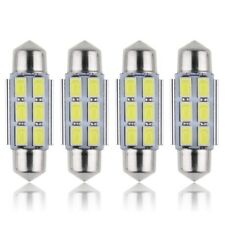 4 X BOMBILLAS LED COCHE CANBUS No Error FESTOON 36MM C5W 6 SMD 5630 BLANCO