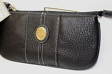 BOC Born Concept Black Pebbled Faux Leather Portable Charging Wristlet Wallet