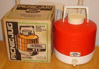 Vintage Thermos Red & White 2 Gallon Picnic Jug / Water Cooler w/ Original Box