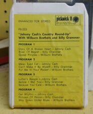 Johnny Cash Country Round Up [Wilburn Bros] 8-Track Pickwick Records - Tested