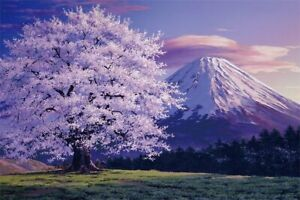 1000 piece jigsaw puzzle Mt. Fuji cherry blossoms in full bloom (EVENTUAL PAYSAG