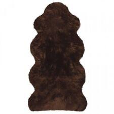 Lammfelle Australisches Lammfell 1 1/2 Fellen Braun ca. 140 x 68 cm Naturform