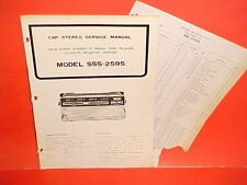 1973 AUTOMATIC RADIO CAR AUTO 8-TRACK STEREO TAPE PLAYER SERVICE MANUAL SSS-2595