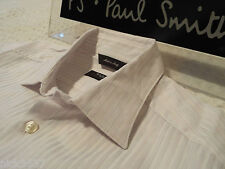 "PAUL SMITH Mens Shirt 🌍 Size 15"" (CHEST 40"")🌎 RRP £95+ 📮 HERRINGBONE STRIPES"