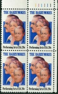 GREAT AMERICAN PERFORMERS - THE BARRYMORES - 1982 US 20c Scott 2012 MNH-OG (706)