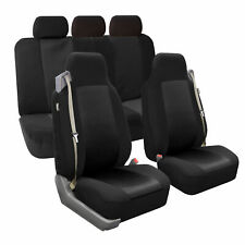 Car Seat Cover Full Set Highback Integrated Seatbelt Black