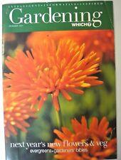 Gardening Which? Magazine. December, 2001. Next year's new flowers & veg.