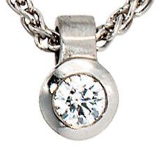 Natürliche runde Echtschmuck-Halsketten & -Anhänger mit Diamant