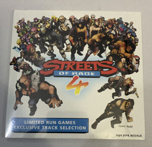 Streets of Rage 4 Soundtrack CD (Limited Run Games Exclusive) SEALED NEW Lot
