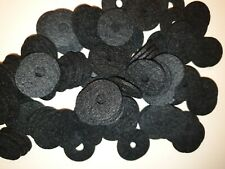 Vintage radio new  Pure Black knob felts  in lots of 100. Machine precision cut